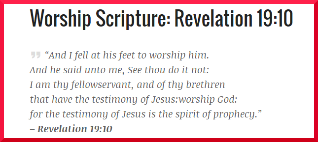 Revelation 19:10 – Worship Scripture WithCommentary