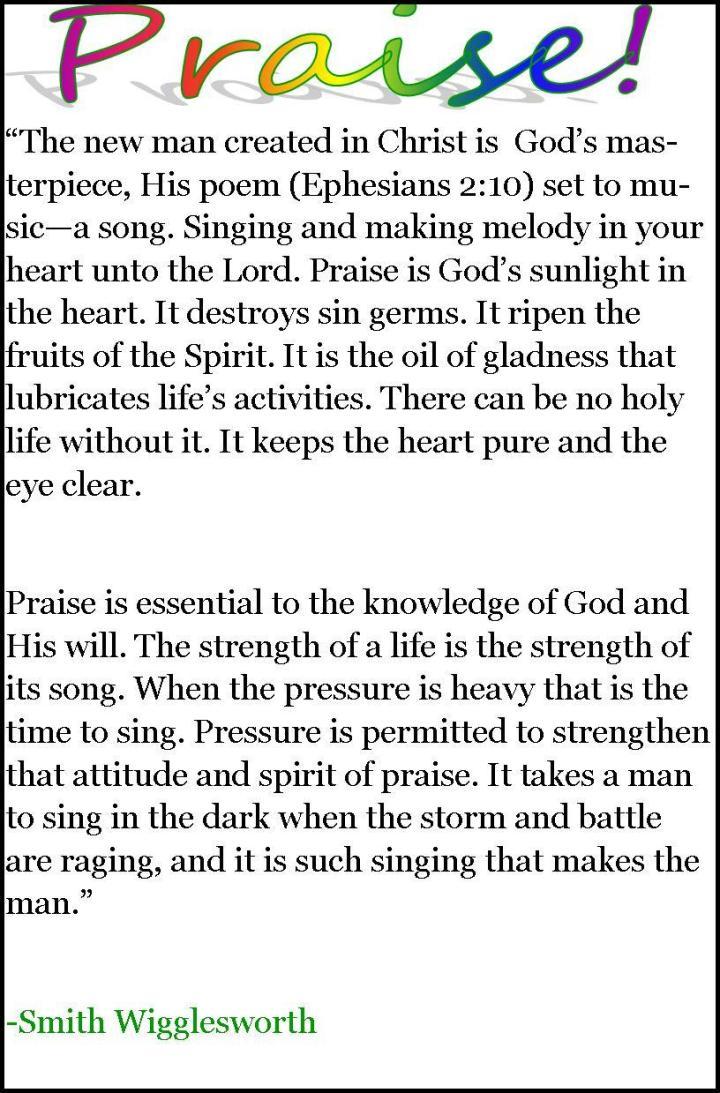 Praise by Smith Wigglesworth