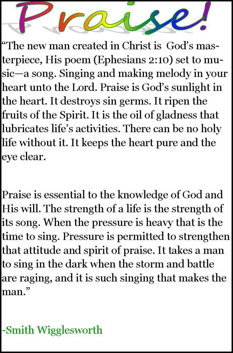 Praise by Smith Wigglesworth