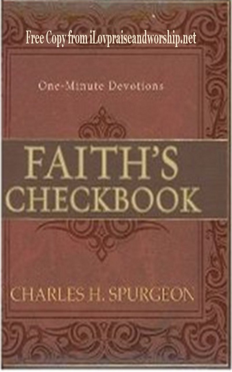 Free Copy: Faith's Checkbook (Devotional) by Charles Spurgeon