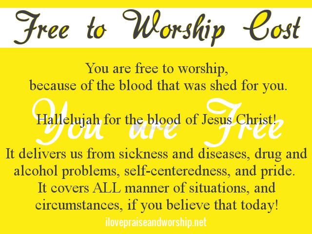 Free to WorshipCost