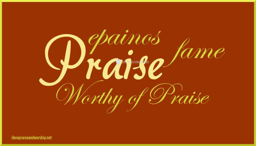 Praise (fame, worthy of praise) (1868)epainos