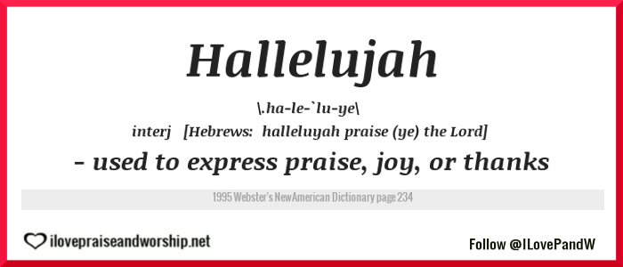 Is The Word 'Hallelujah' Found In TheBible?