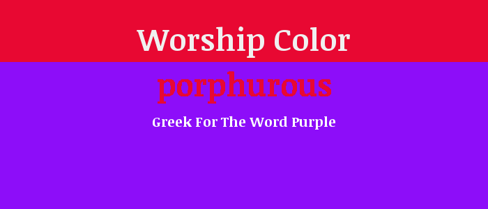 Worship Color: Purple