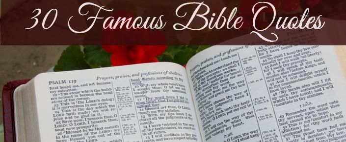 30 Famous BibleQuotes