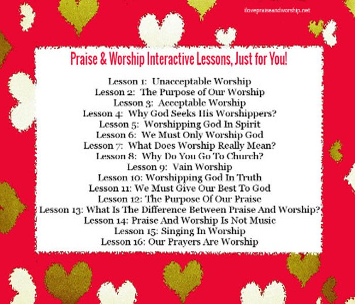 Praise & Worship Bible Study InteractiveLessons
