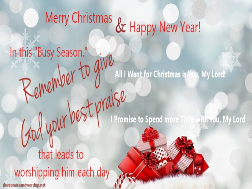 Wallpaper: Merry Christmas & Happy New Year from ilovepraiseandworship.net
