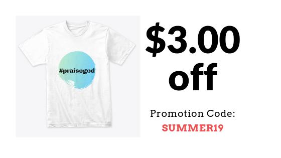 hastag praise god t-shirt on sale