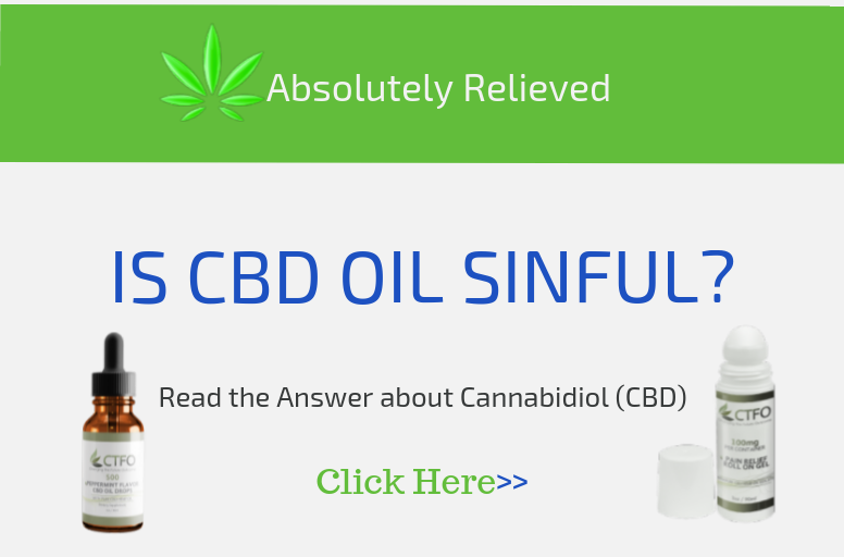 Is CBD Oil Sinful?